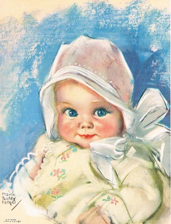 Baby Bunting Maud Tousey Fangel Calendar Art Print