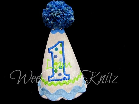Boys Birthday Party Hats 1st Personalized First 2nd 3rd Applique Kids You Design Photo Prop