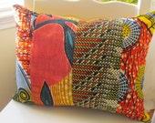 African Mix Print Cushion