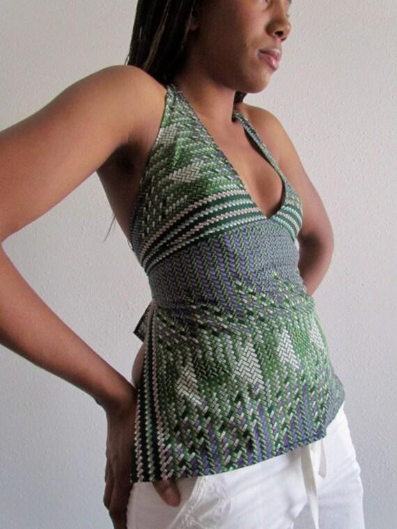African Print Halter Neck Top