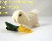 Felt Lop eared Bunny rabbit pattern PDF