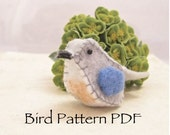 Felt Bird pin pattern PDF
