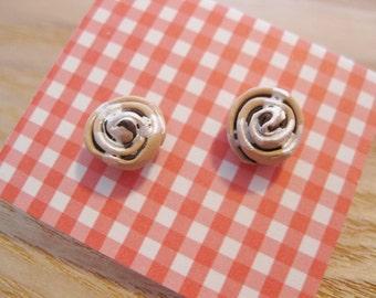 Fun Food Earrings... Cinnamon Rolls