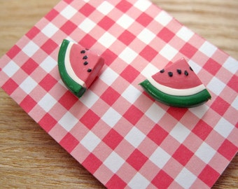 Fun Food Earrings... Watermelon
