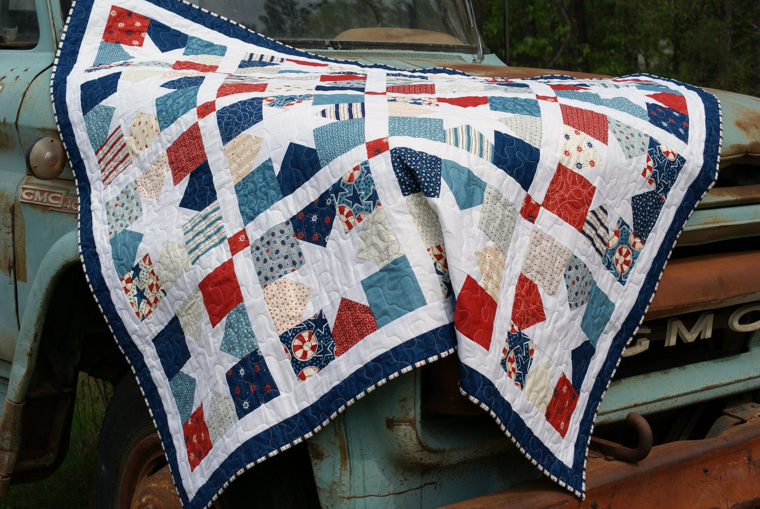 Star Quilt In Moda Nautical And Nice