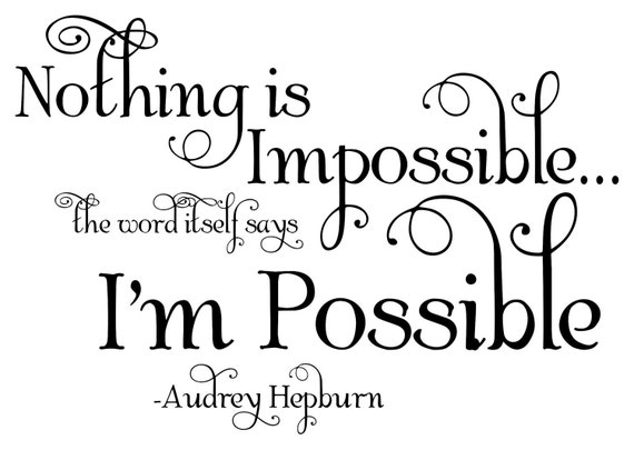 Items Similar To AUDREY HEPBURN Quote
