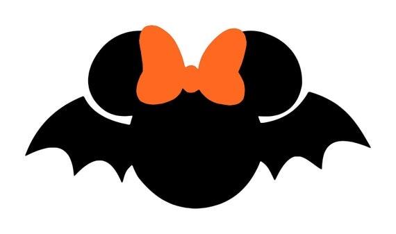 Items similar to Personalized Bat Minnie or Mickey DIY ...
