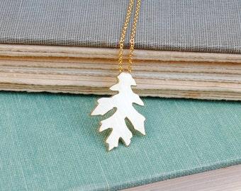 Gold Oak Leaf Necklace