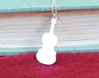 25% off Sterling Violin Silhouette