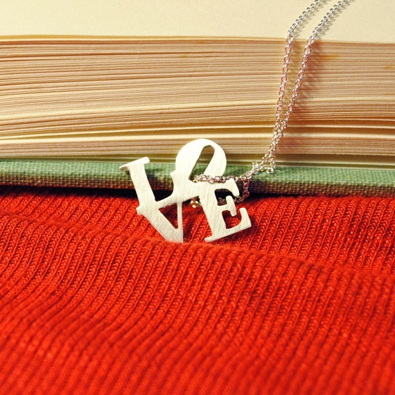 READY TO SHIP Sterling Love Necklace