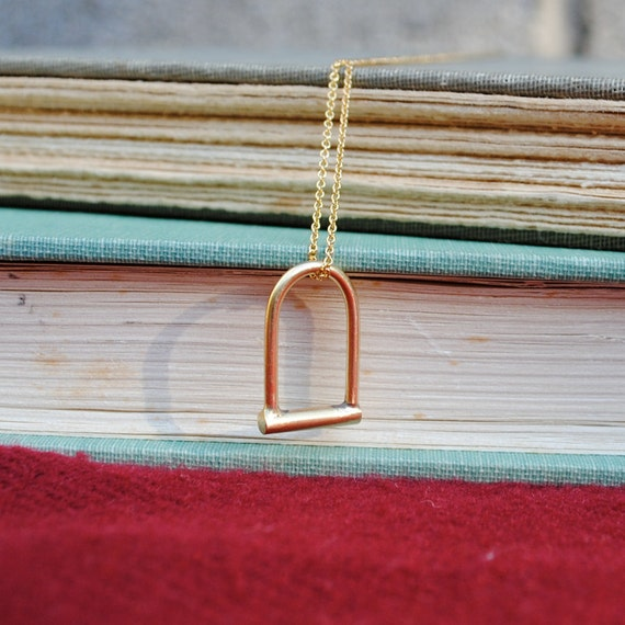 Gold Ulock Necklace