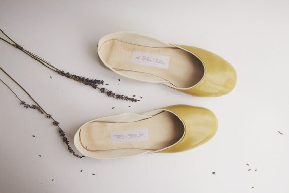 custom listing for Denise...new. soft leather ballet flats. two pairs, sienna and olive, size 8.5