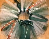 jets football cheerleader tutu NFL- custom made newborn toddler girls to 6t green and white
