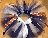 dallas cowboys NFL  tutu girls toddler baby custom made newborn to 6t blue and white