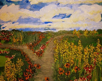 impressionism art, impressionism painting, landscape painting, contemporary painting landscape, Fork in the Road,  impressionistic landscape