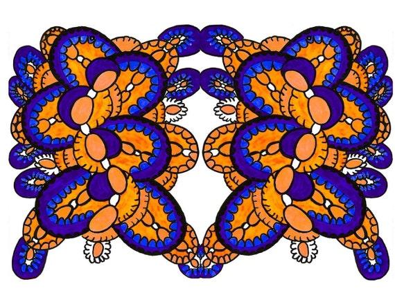 Astratto cerchi parete arte colori contemporanei di artkunzelman