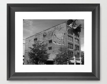 Urban Photography, Black and White Photo, Historic Omaha Advertising Art, Ghost Signs