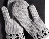 """PDF pattern -(Vintage)  -Vintage Crochet -""""Crochet Mittens""""-for women-(38)"""