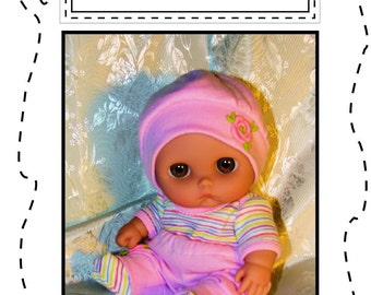 Lil Cutesie DOLL CLOTHES-PDF pattern for 8 to 8.5 inch chubby baby dolls - 'Onesie, Hat & Pants'- CB1002