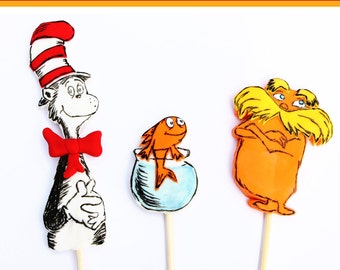 Fondant Dr. Seuss cake toppers