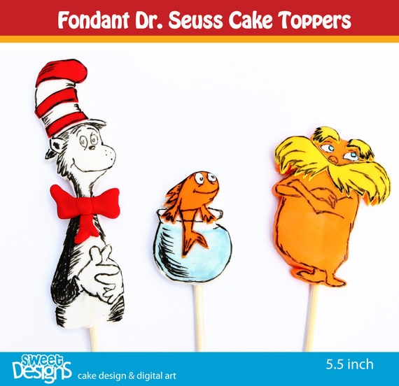 Items similar to Fondant Dr. Seuss cake toppers on Etsy
