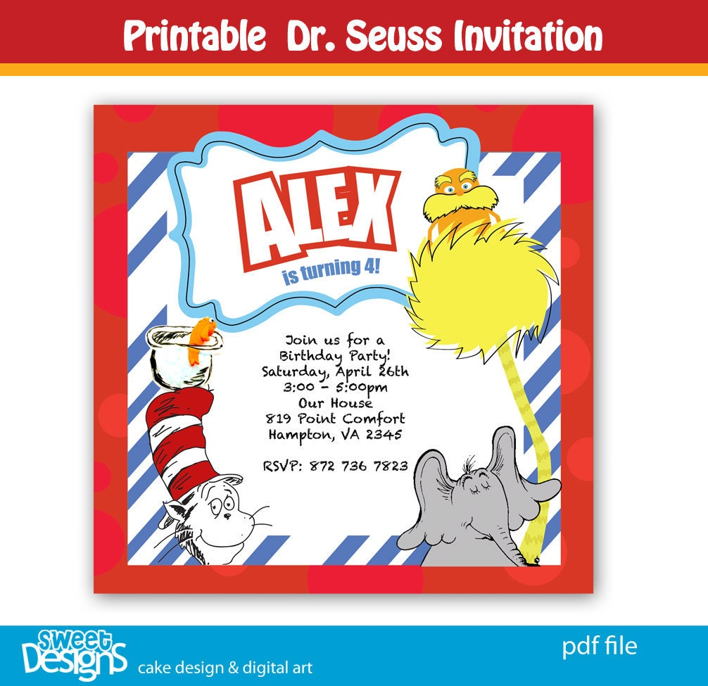 Dr Seuss Baby Shower Invites is good invitations template
