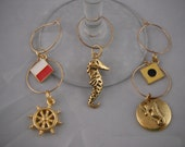 Nautical Wine Glass Charm Collection