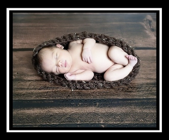Newborn Baby Bowl Egg in Barley- MADE TO ORDER