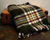Vintage Wool Blanket Plaid
