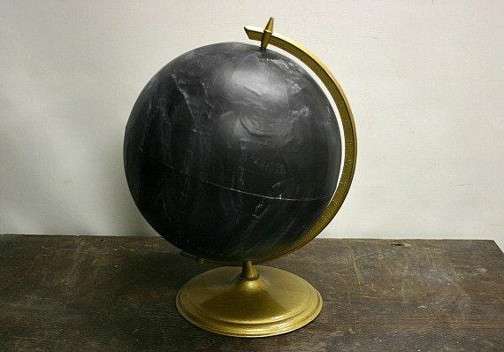 Vintage Globe Chalkboard-On Sale