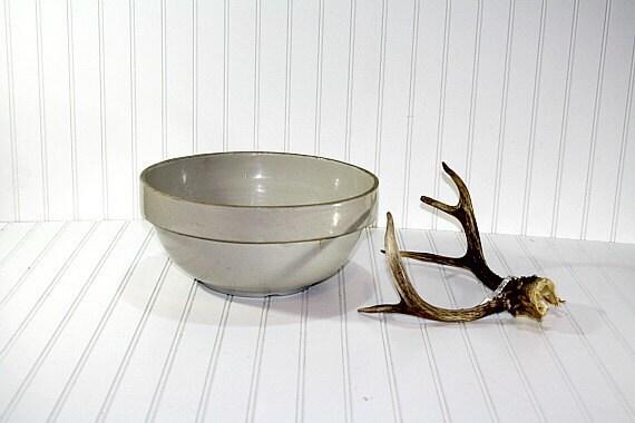 Vintage Earthenware  Mixing Bowl
