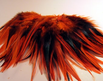 orange  Feathers badger saddle rooster feathers fly tying crafts qty 50 asb-03 craft feathers
