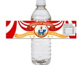 Carnival Circus Party Water Bottle Label - DIY PRINTABLE FILE