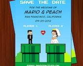 Old School Nintendo Inspired Wedding Save the Date Invitation - PRINTABLE DIY