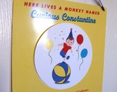 Curious George Inspired Door Sign