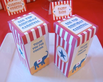 Carnival Circus Treat Favor Boxes (2.25 inches x 5 inches)