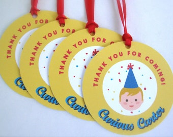 Curious George Inspired Favor Tags