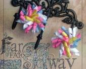 Tutti Fruiti Korker  Set of 2 Korker bows --Great for Spring-- Birthday Gift--