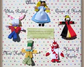 Alice in Wonderland Hair Clips Set