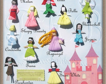 Princess Clip Collection Set of 11-- Inspired by Disney-- Perfect for Christmas, Birthdays and Baby Showers Gift  -- TAKE 30% off