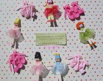 Ballerina and Ballerina shoes Hair Clip Set (U-Pick Set)