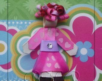 Pinkalicious  Inspired Character Hair Clip--Birthday Gift--