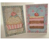 Sweet Patisserie Foldover Shabby Gift Tags - SET of 8