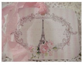 Paris in Pink Shabby Gift Tags- SET of 8