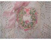 Pink Shabby Gift Tags - SET of 6