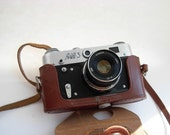 Vintage  Film  Camera  FED 3 35mm from the  USSR 1970s