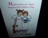 Mother, Mother  in law, Sister, Sister in law,  Greeting Card (You customize who!)