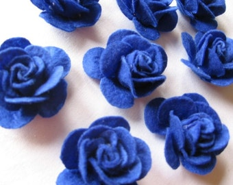 4D BIG Lovely Felt Indigo Blue Rose appliques embellishments Store Closeout Sale