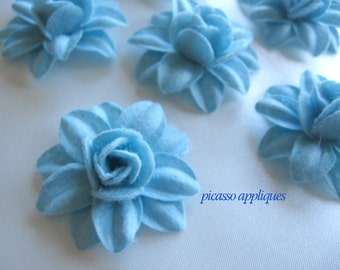 BIG Lovely 4D Baby Blue  Felt Lily appliques embellishments and more