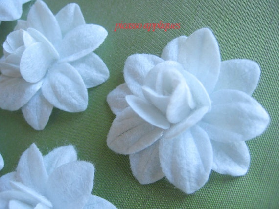 BIG Lovely 4D White Felt Lily appliques embellishments and more